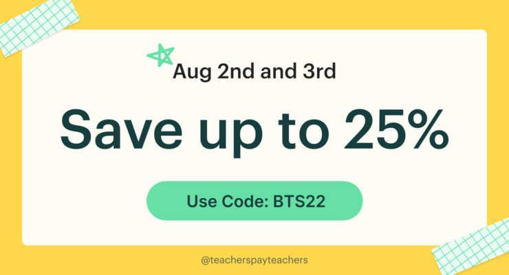 Teachers Pay Teachers Sale - February 26th and 27th, 2019